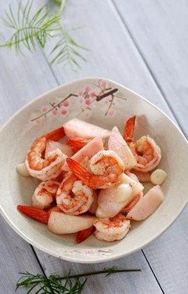 蜜桃虾的做法