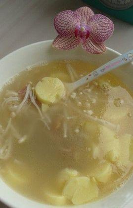 豆腐金针汤的做法