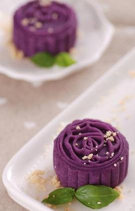 紫薯果仁月饼的做法