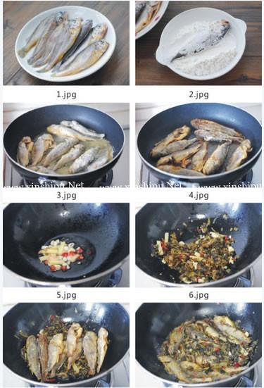 雪菜小黄鱼的做法图