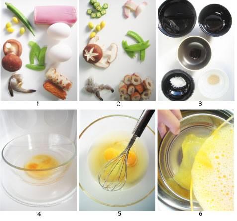 茶碗蒸蛋的做法图