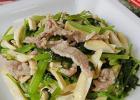 高血压菜谱:肉丝茶干炒芹菜的做法