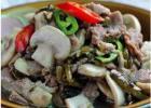 鲜蘑雪菜炒肉丝的做法