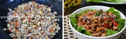 生菜香菇肉碎的做法图