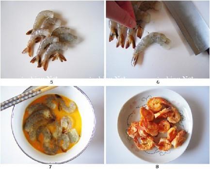 凤尾虾干煸菜花的做法图