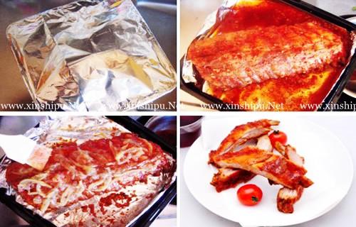 第5步柚子烤排骨的做法图片