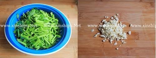第2步蒜蓉空心菜的做法图片