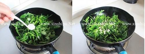 第4步蒜蓉空心菜的做法图片