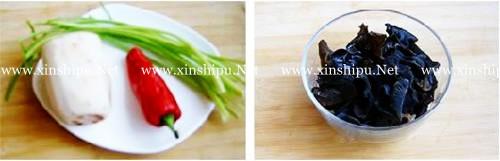 第2步木耳炒藕的做法图片