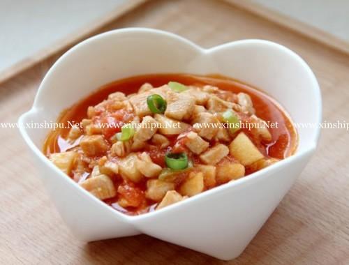 第1步番茄鸡丁的做法图片