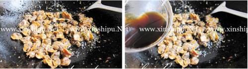 第3步鲜嫩无比的豆角炒红螺肉的做法图片