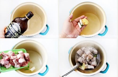第3步干豆角红烧肉的做法图片