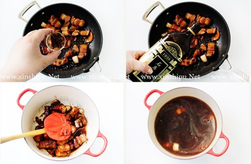 第5步干豆角红烧肉的做法图片