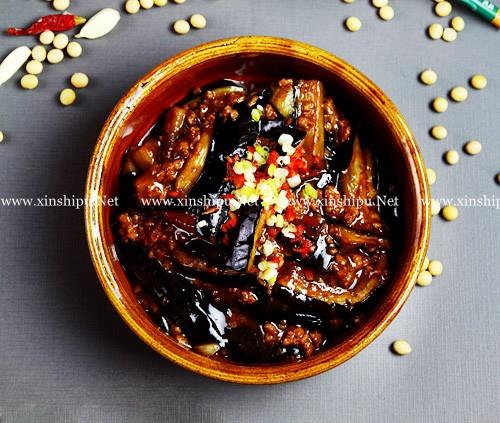 浓油赤酱食谱酱烧图片的血脂做法_肉末酱烧茄可以茄子降低肉末的图片