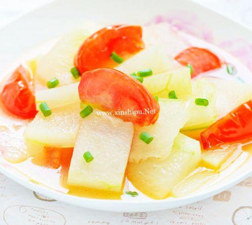 第1步清新略酸的番茄炒冬瓜的做法图片