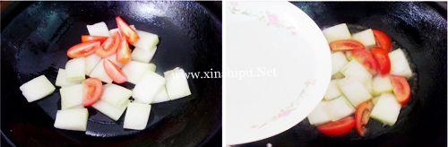 第3步清新略酸的番茄炒冬瓜的做法图片