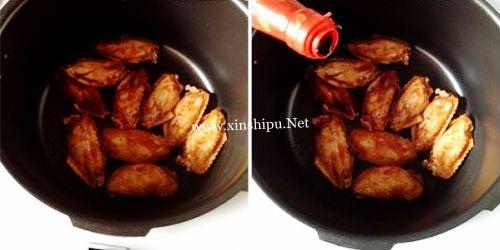 第5步唇齿留香的酱烧鸡翅的做法图片