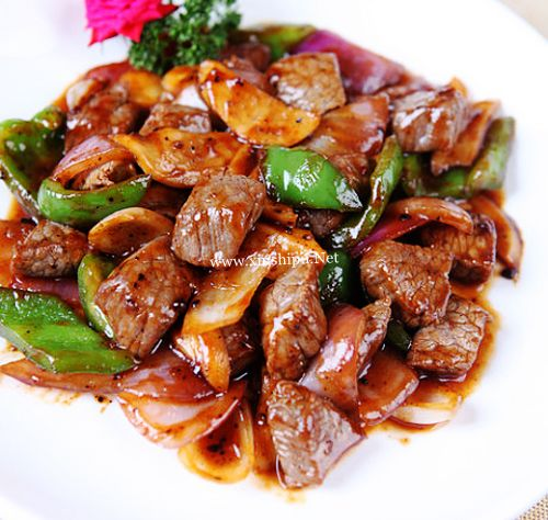 第1步黑椒牛肉粒的做法图片