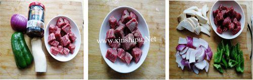 第2步黑椒牛肉粒的做法图片