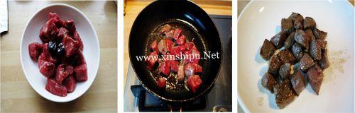 第3步黑椒牛肉粒的做法图片
