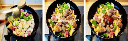 第4步黑椒牛肉粒的做法图片