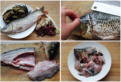 第2步酸菜鱼的做法图片