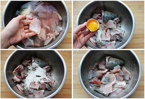 第3步酸菜鱼的做法图片