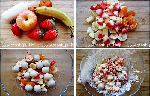 第5步水果汤圆沙拉的做法图片