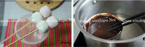 第2步巧克力棒棒糖的做法图片