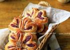 花一样的面包 紫薯花朵包