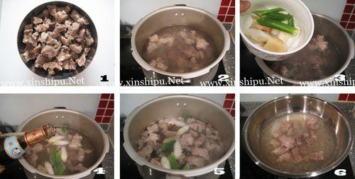 第2步清炖白萝卜牛腩汤的做法图片