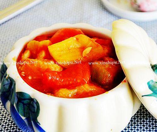 第1步西红柿烧茄子的做法图片