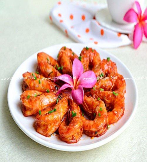 第1步色香味俱全的红焖大虾的做法图片