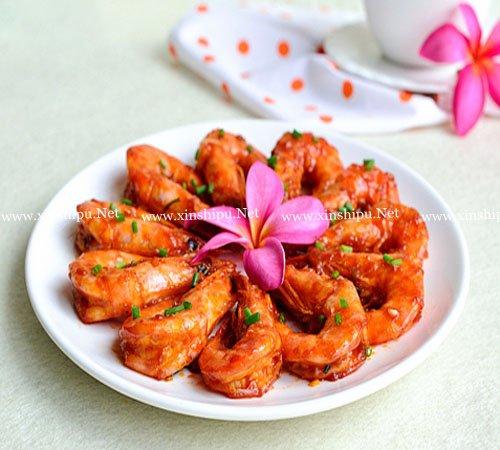 第4步色香味俱全的红焖大虾的做法图片