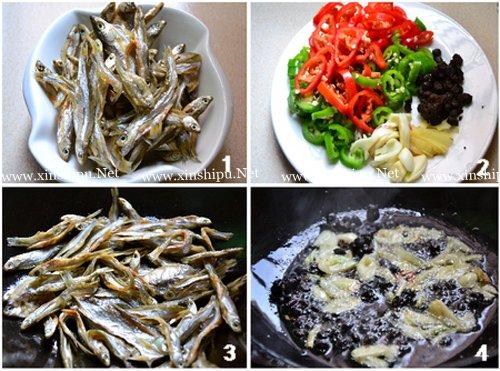 第2步豆豉辣椒火焙鱼的做法图片
