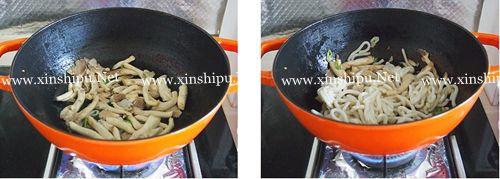 第3步蘑菇香草乌冬面的做法图片