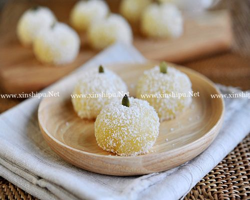 第9步椰蓉糯米糍的做法图片