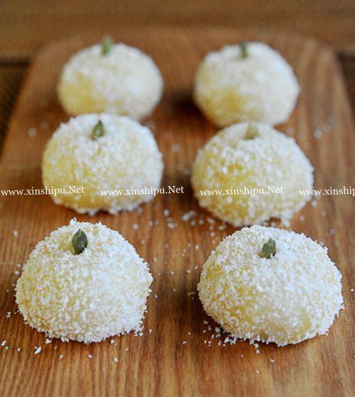 第10步椰蓉糯米糍的做法图片