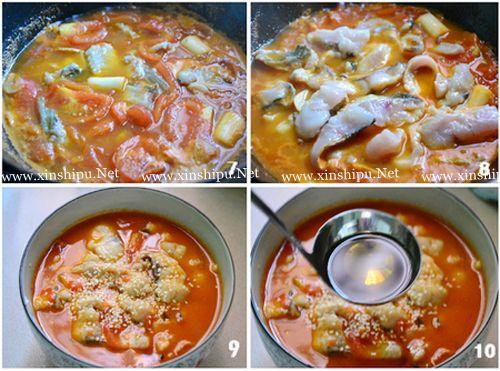 第3步酸爽开胃的水煮番茄鱼的做法图片
