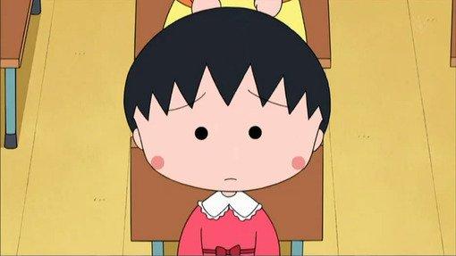 樱桃小丸子新发型头像呆萌 短发似西瓜头 萌到哭